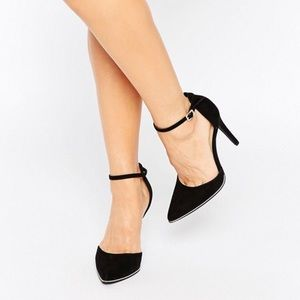 ASOS New Look Wide Fit Gold Trim Heeled Shoe